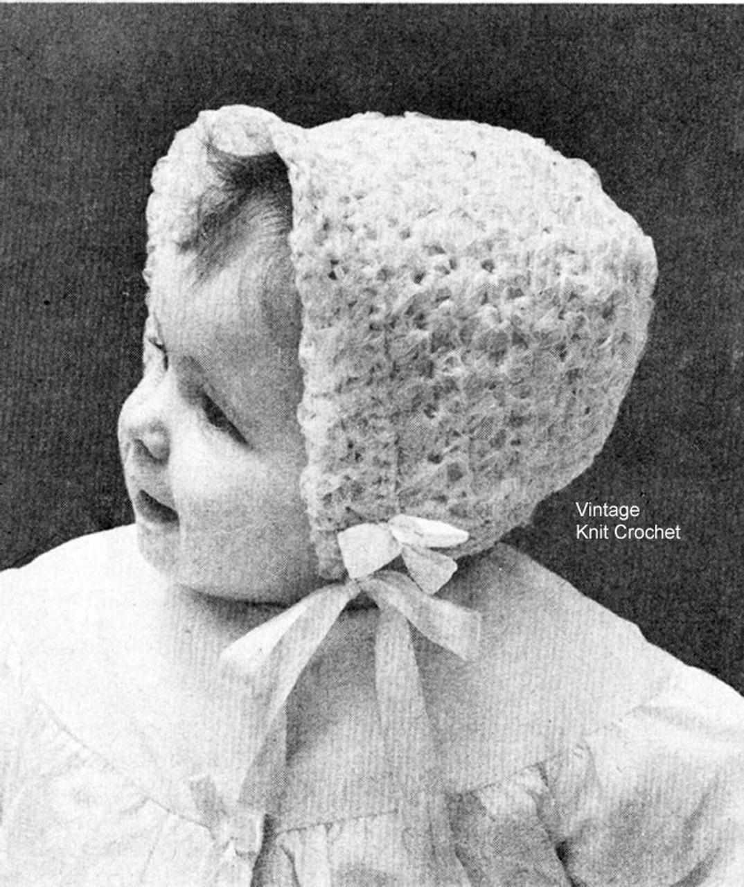 Free Baby Bonnet Crochet Pattern