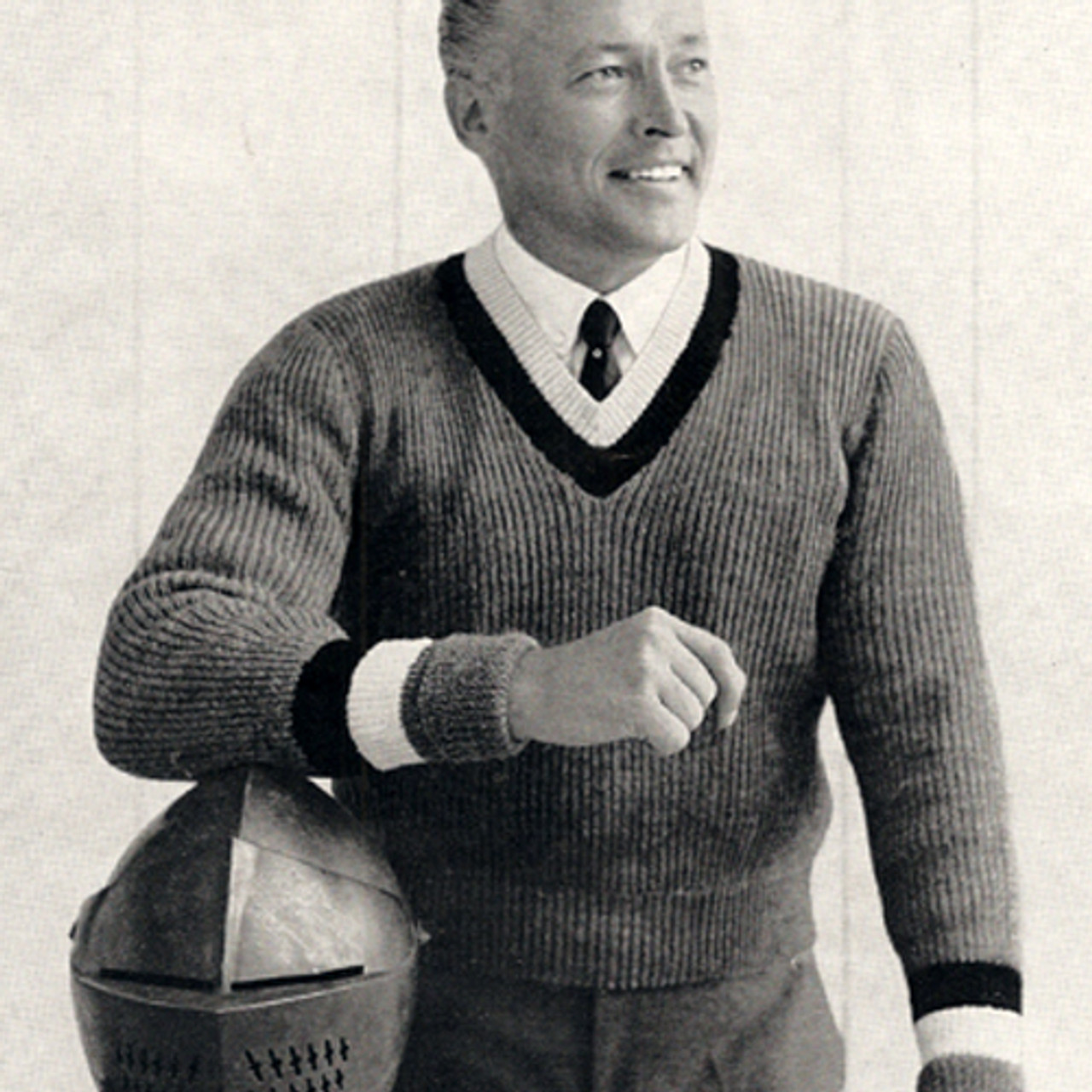 Vintage Mans Knitting Pattern for Pullover Sweater from Columbia Minerva