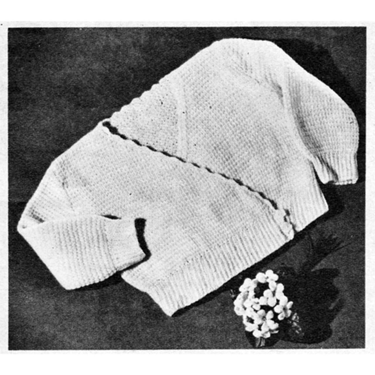 Baby Surplice Sweater Crochet Pattern