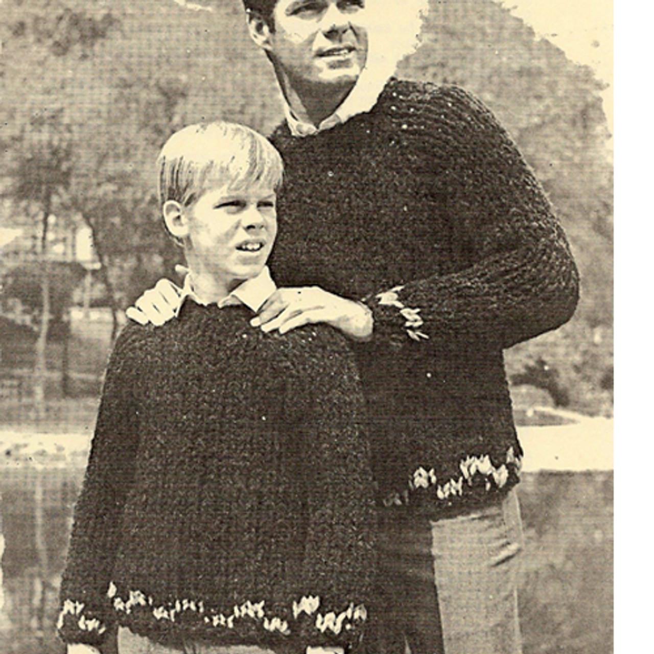 Vintage Sweaters Pattern on Big Needles
