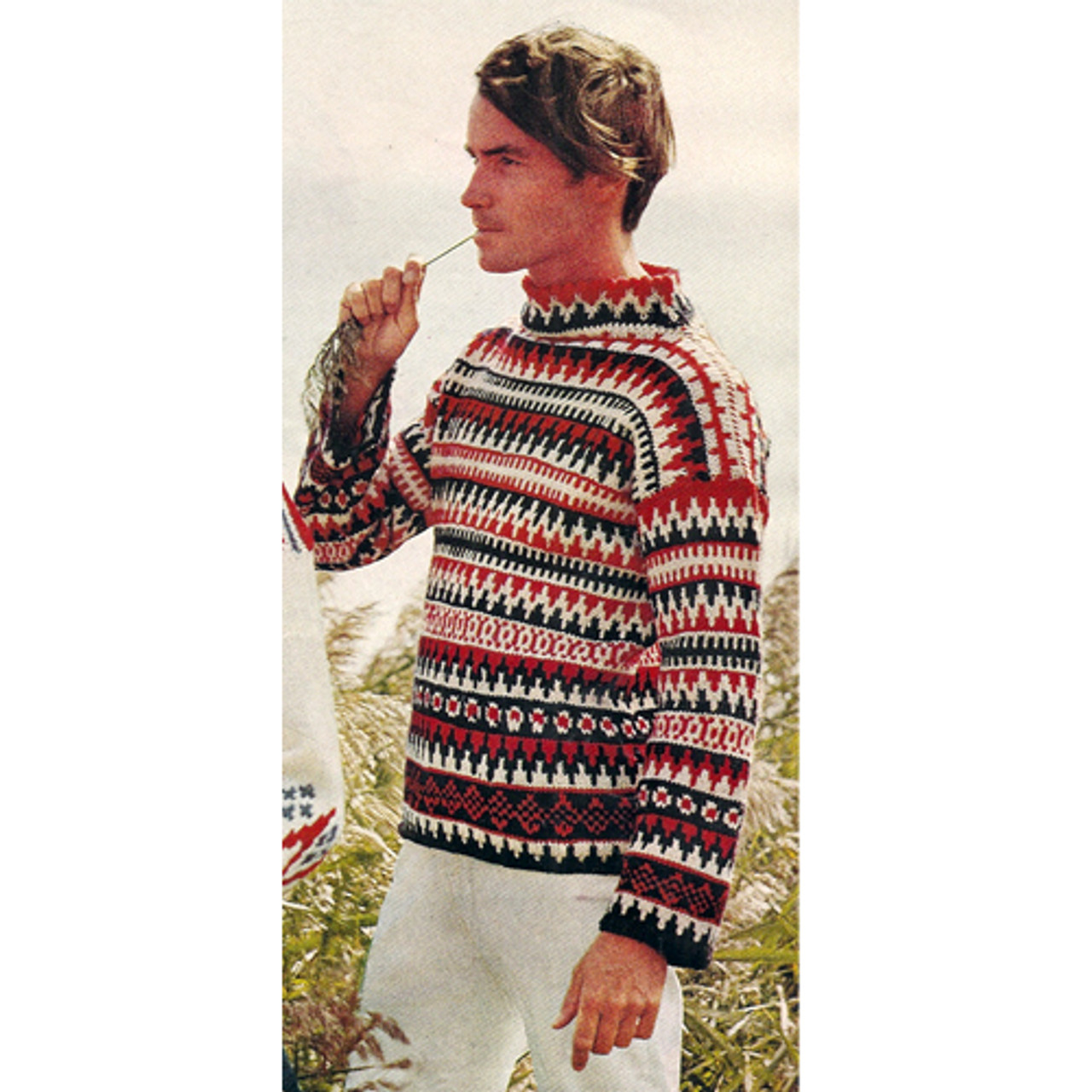 Colorful Striped Pullover Knitting Pattern