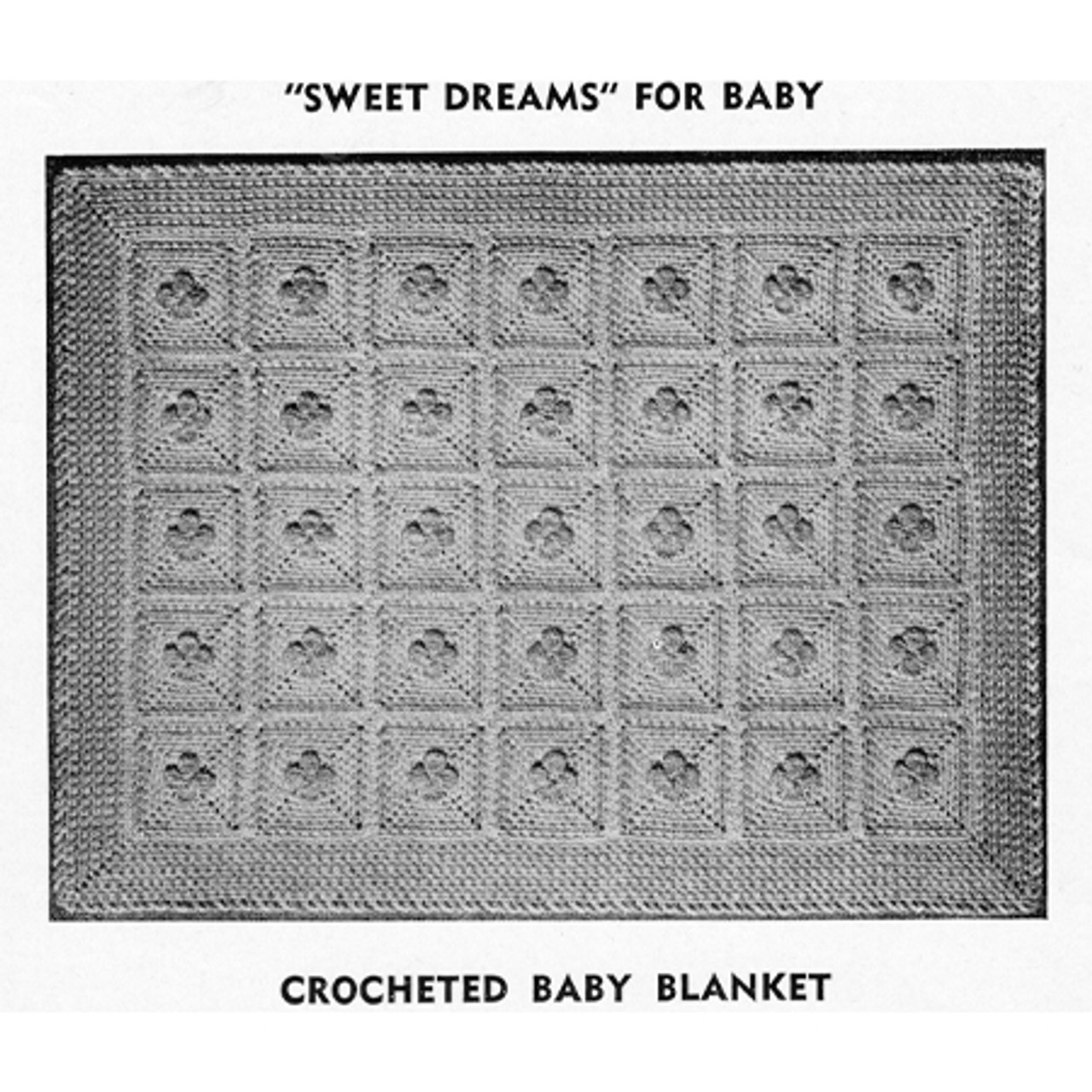 Crochet Baby Blanket Pattern With Flower Block Motif