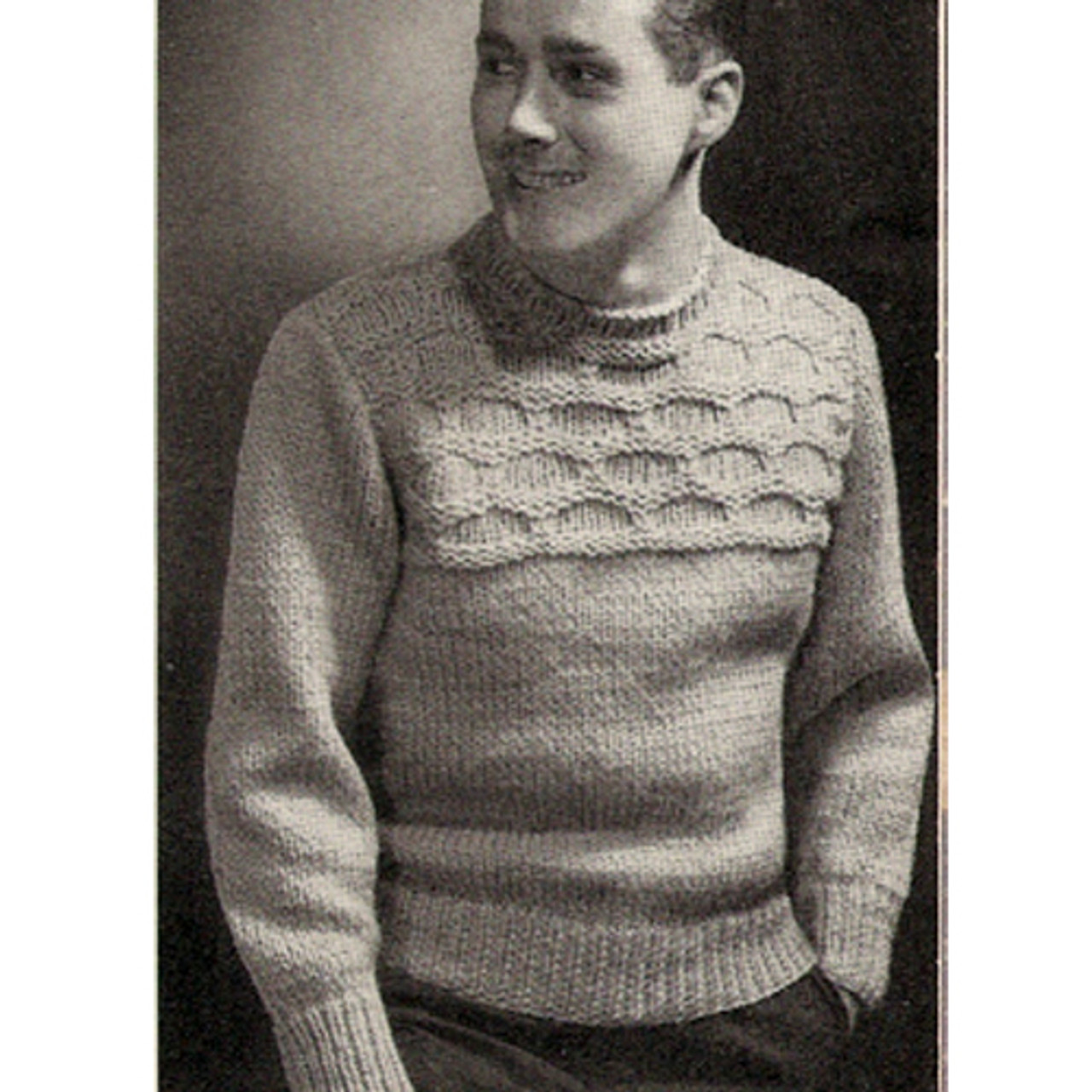 American Thread Knitted Sweater Pattern for Men