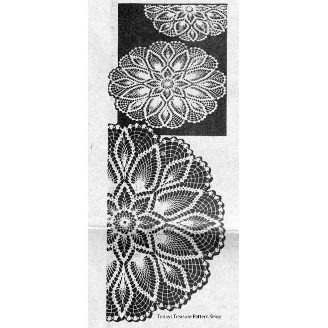 Small Pineapple Crochet Doily Pattern Design 7044