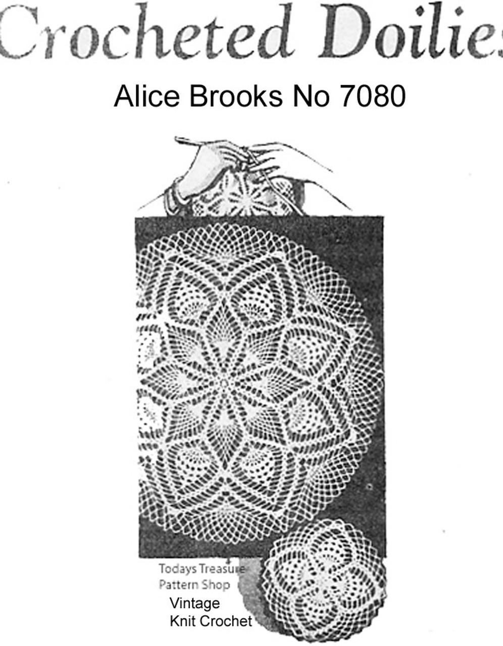 Alice Brooks Crochet Pineapple Doily pattern No 7080