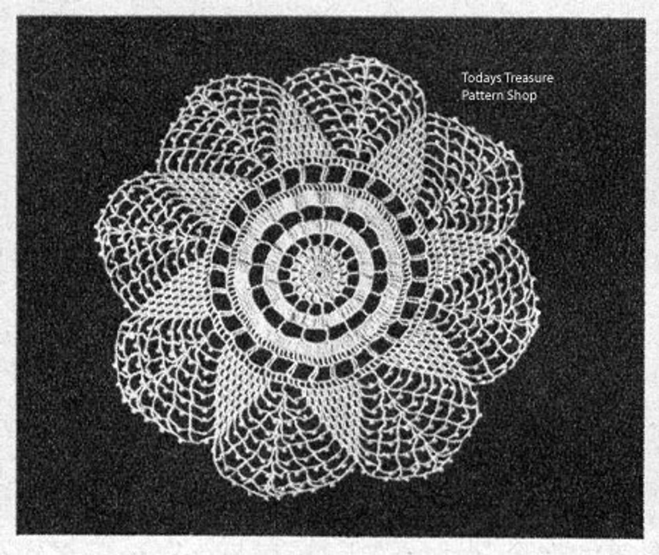 Vintage Crochet Star Doily Pattern in Pineapples
