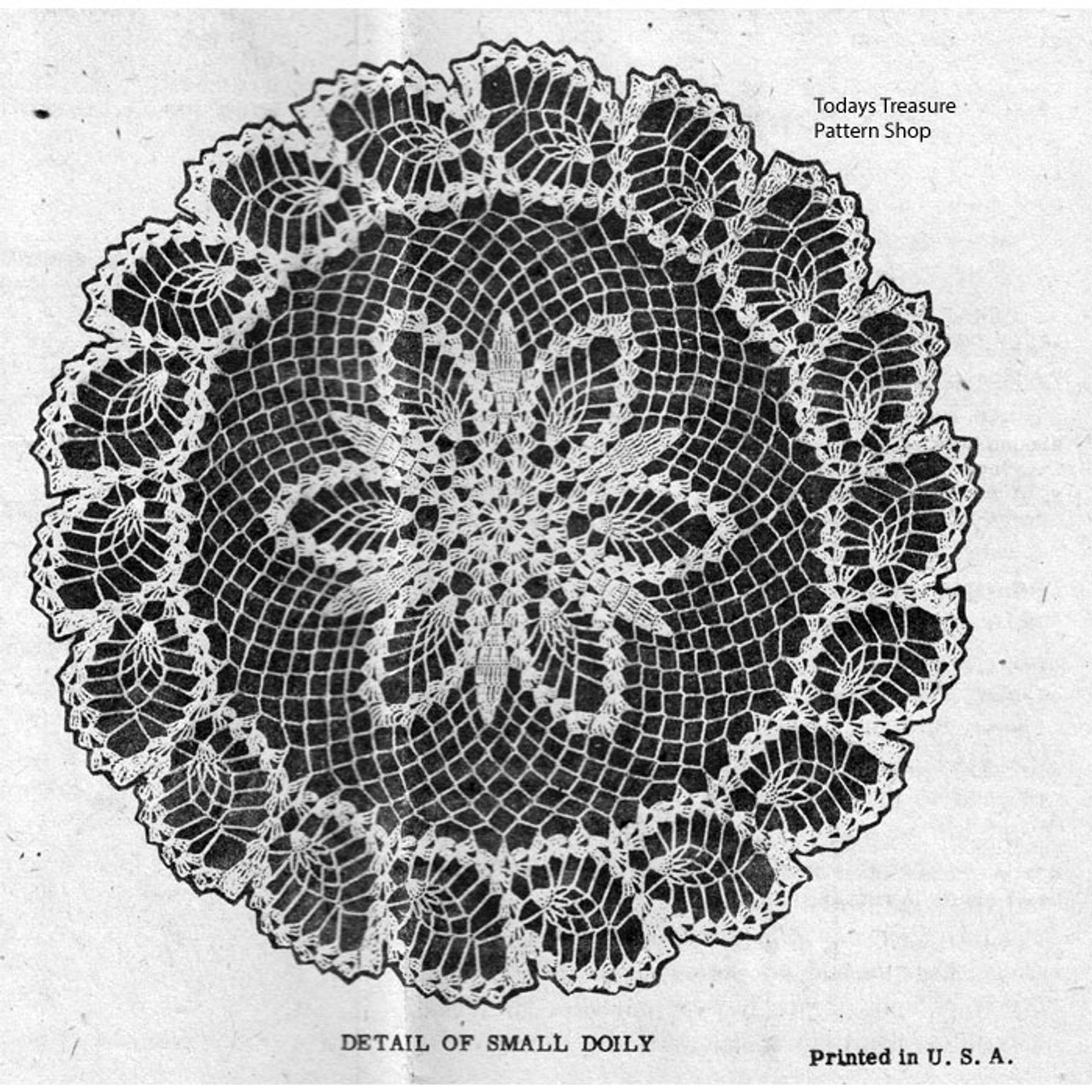 Illustration of pineapple Doily Border