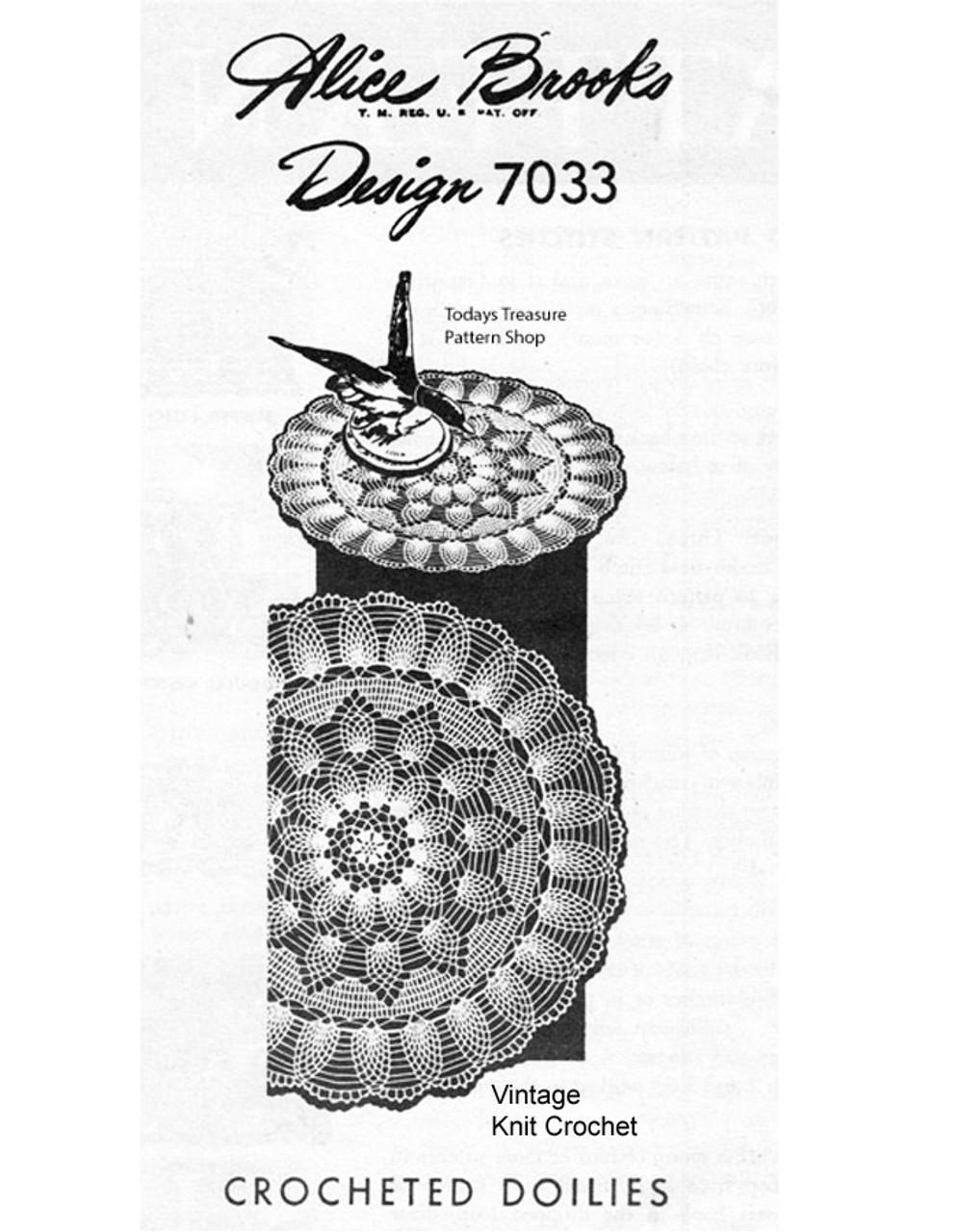 Large Pineapple Border Doily Pattern, Mail Order 7033