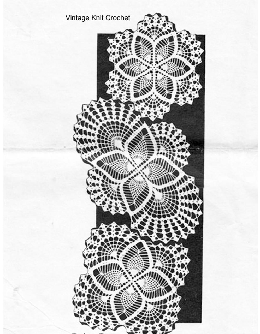 Square crochet doilies pattern, Alice Brooks 7019