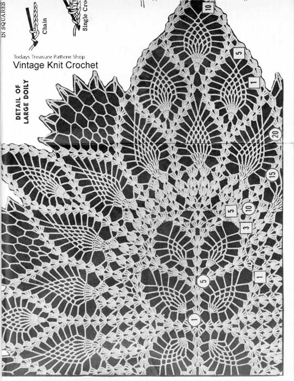 Oval Doily Pattern Stitch Illustration, Alice Brooks 7056