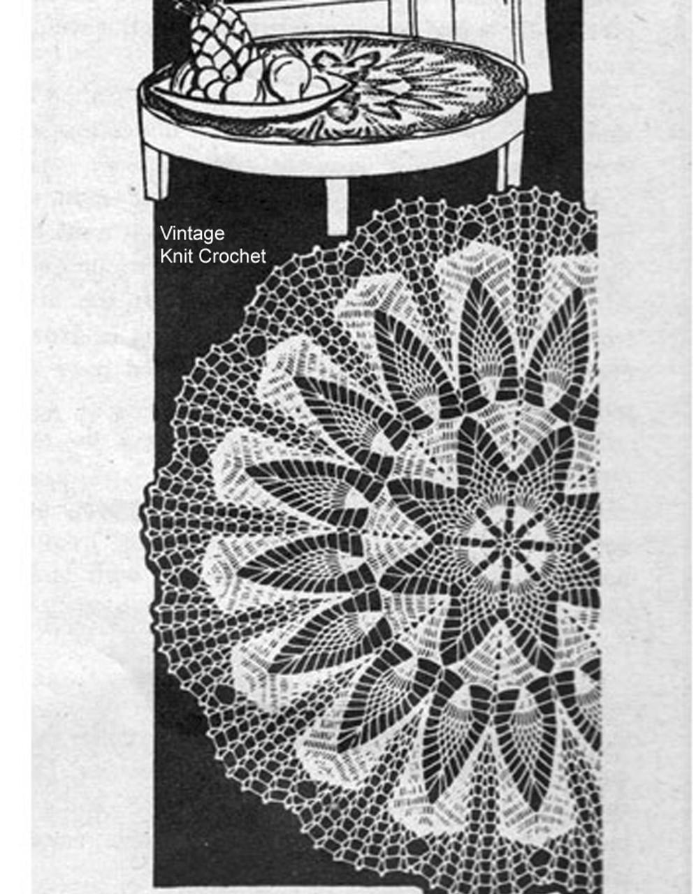 Large Crochet Pineapple Doilies Pattern, Star Motif, Laura wheeler 713