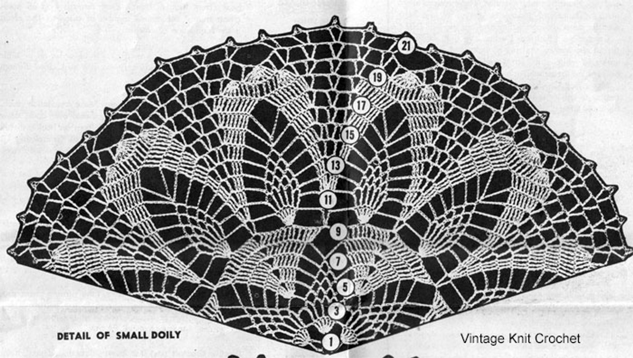 Small Doily Crochet Pattern Stitch Illustration, Mail Order 713