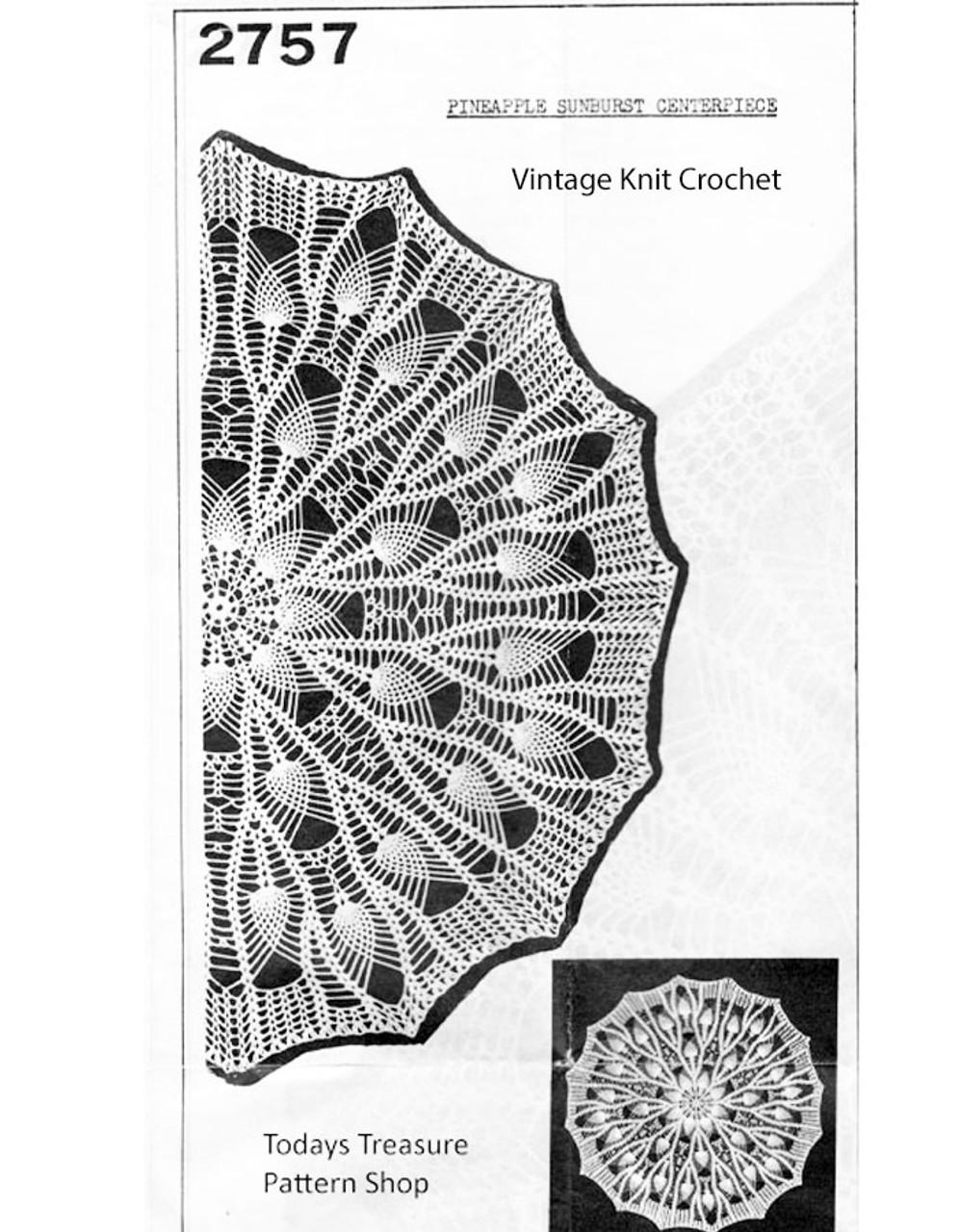Pineapple Centerpiece Doily pattern, Anne Cabot 2757