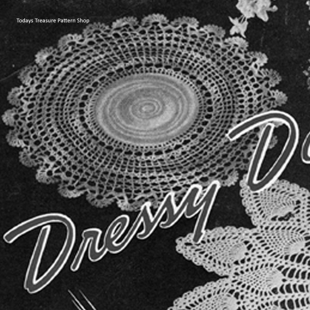 Round Crochet Doily Pattern Leaflet 87 from American Thread