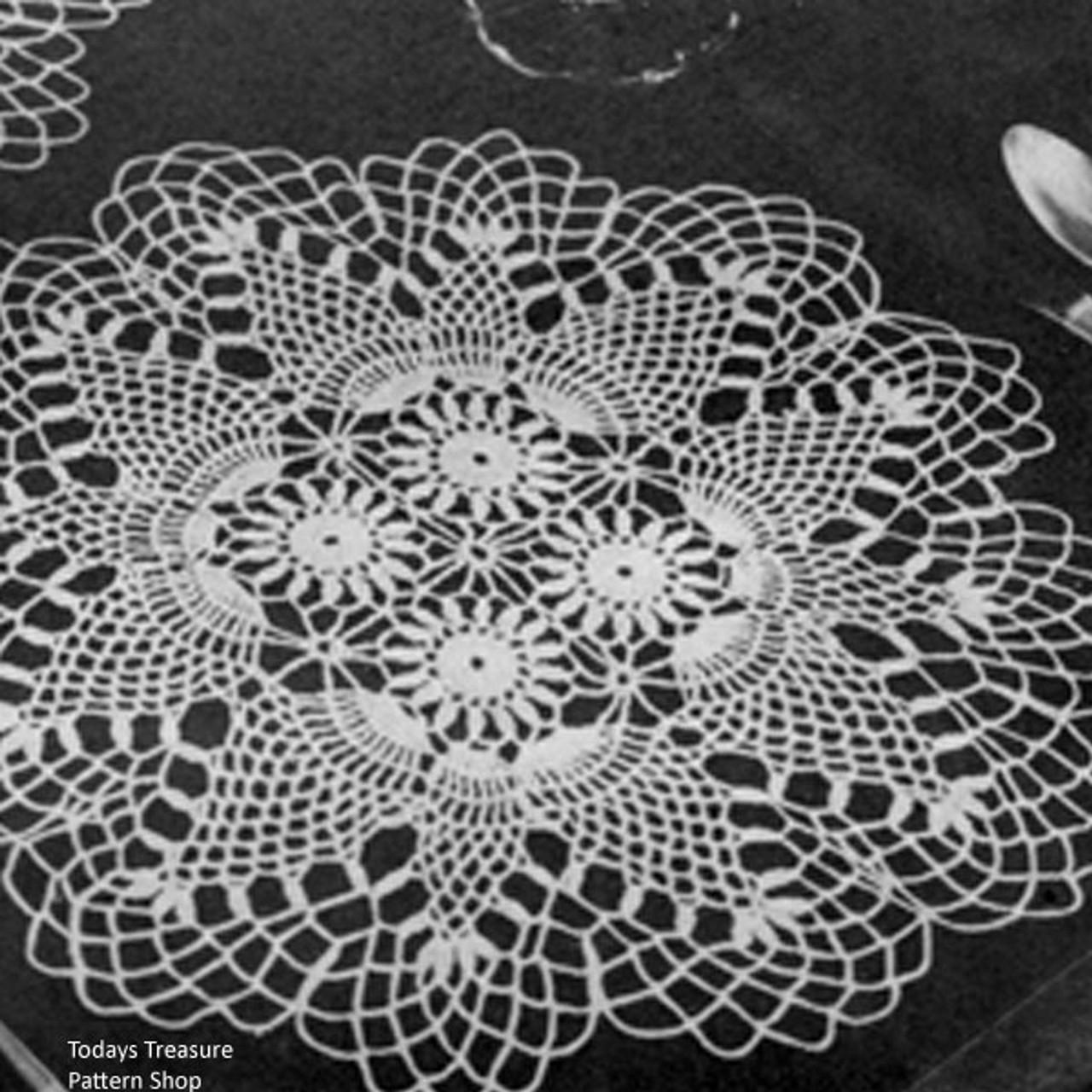 Doily Place Mat Vintage Crochet pattern