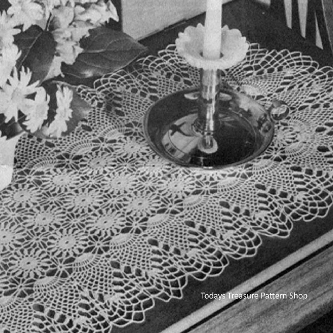 Vintage Pineapple Runner Crocheted Pattern