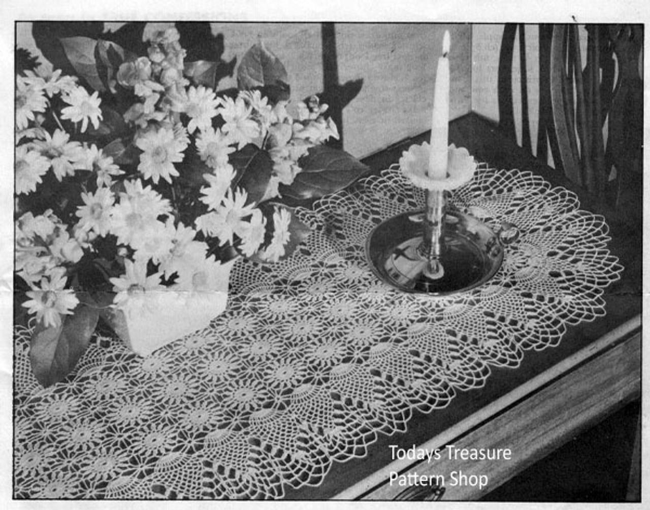 Long Pineapple Crocheted Runner Pattern