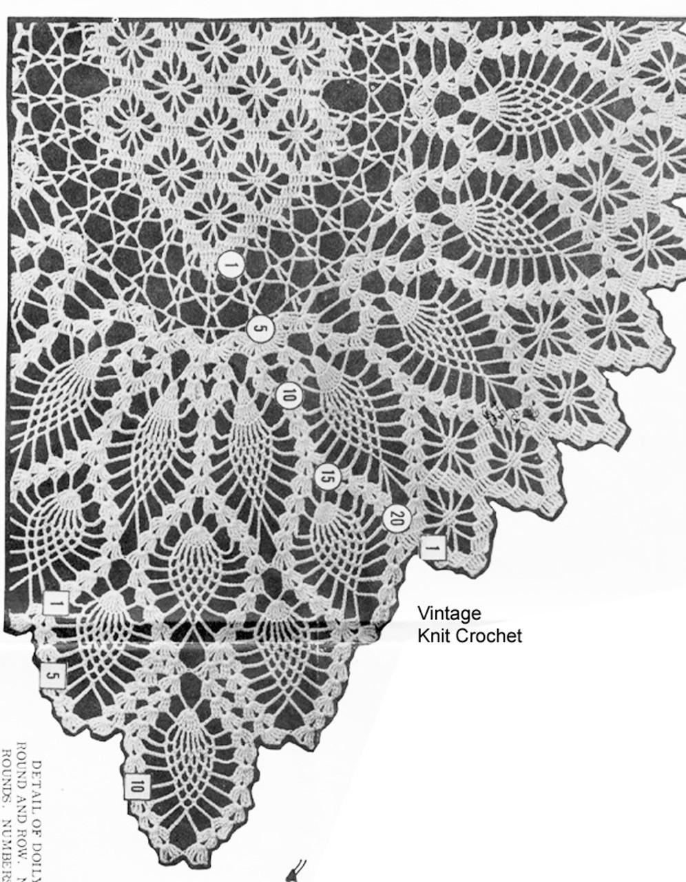 Large Oval Doily pattern stitch illustration, Laura Wheeler 676