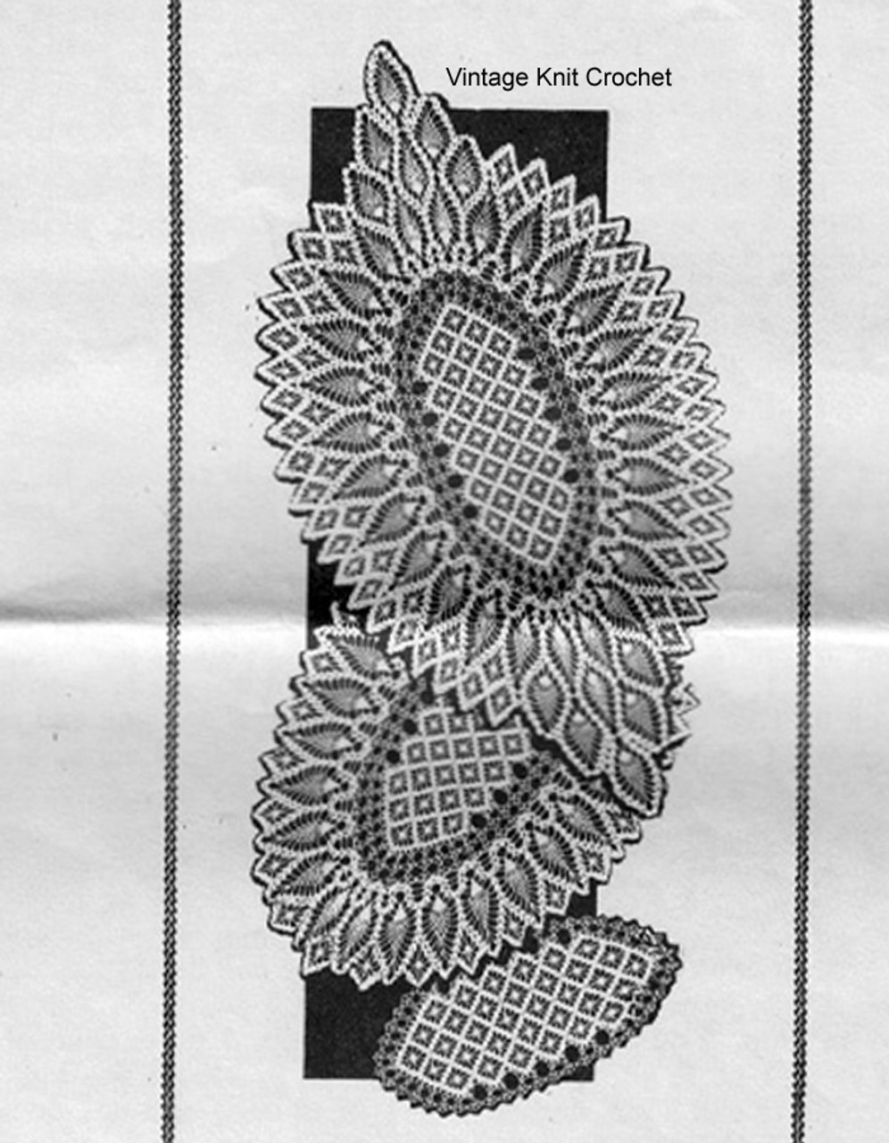 Mail Order Oval Doily pattern, Laura Wheeler 676