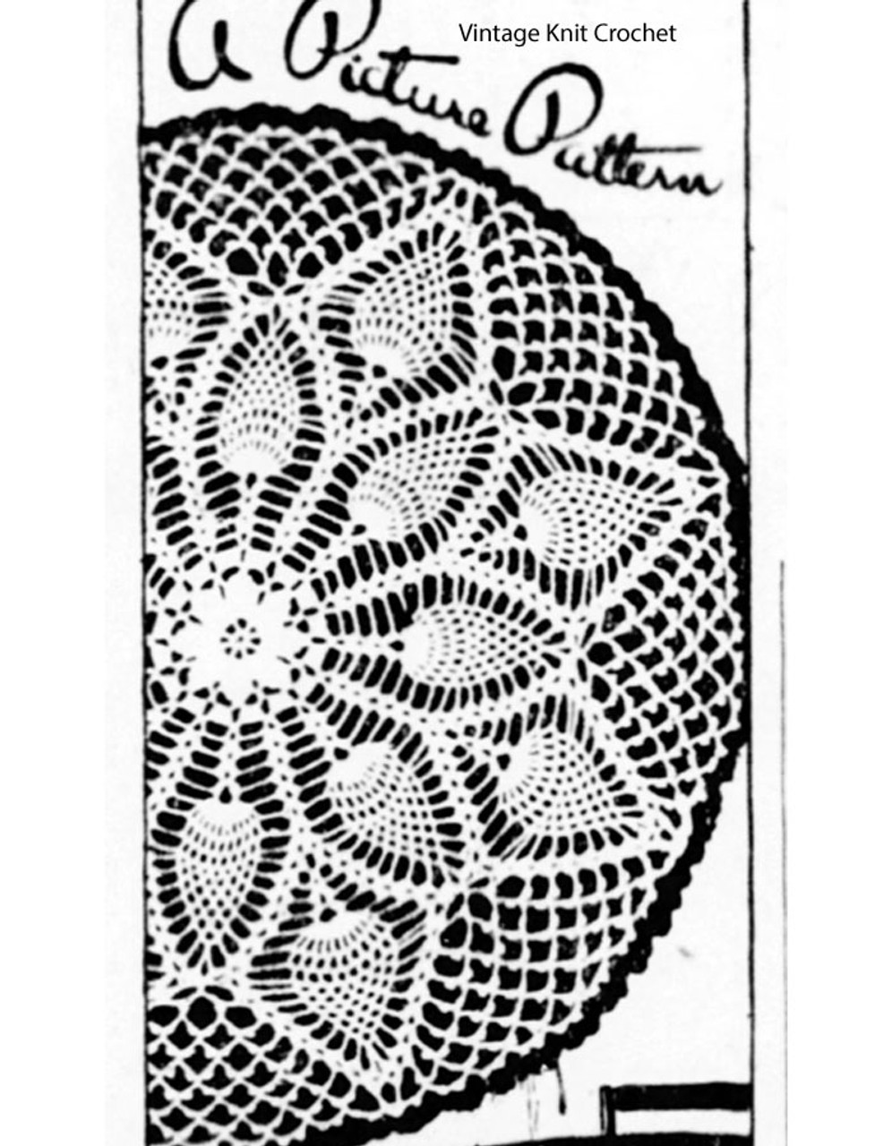 Large Pineapple Flower Doily pattern No E-1118