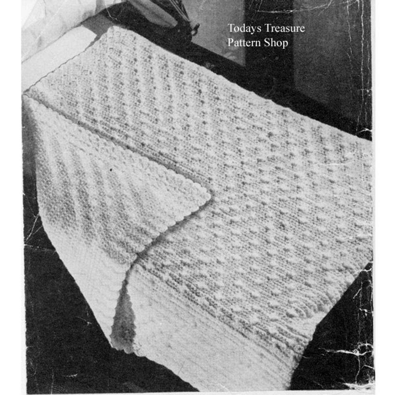 Crochet Baby Blanket Pattern in Star Stitch