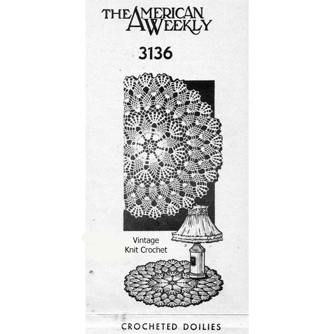 Pineapple Crochet Small Large Doilies Pattern Design 3136