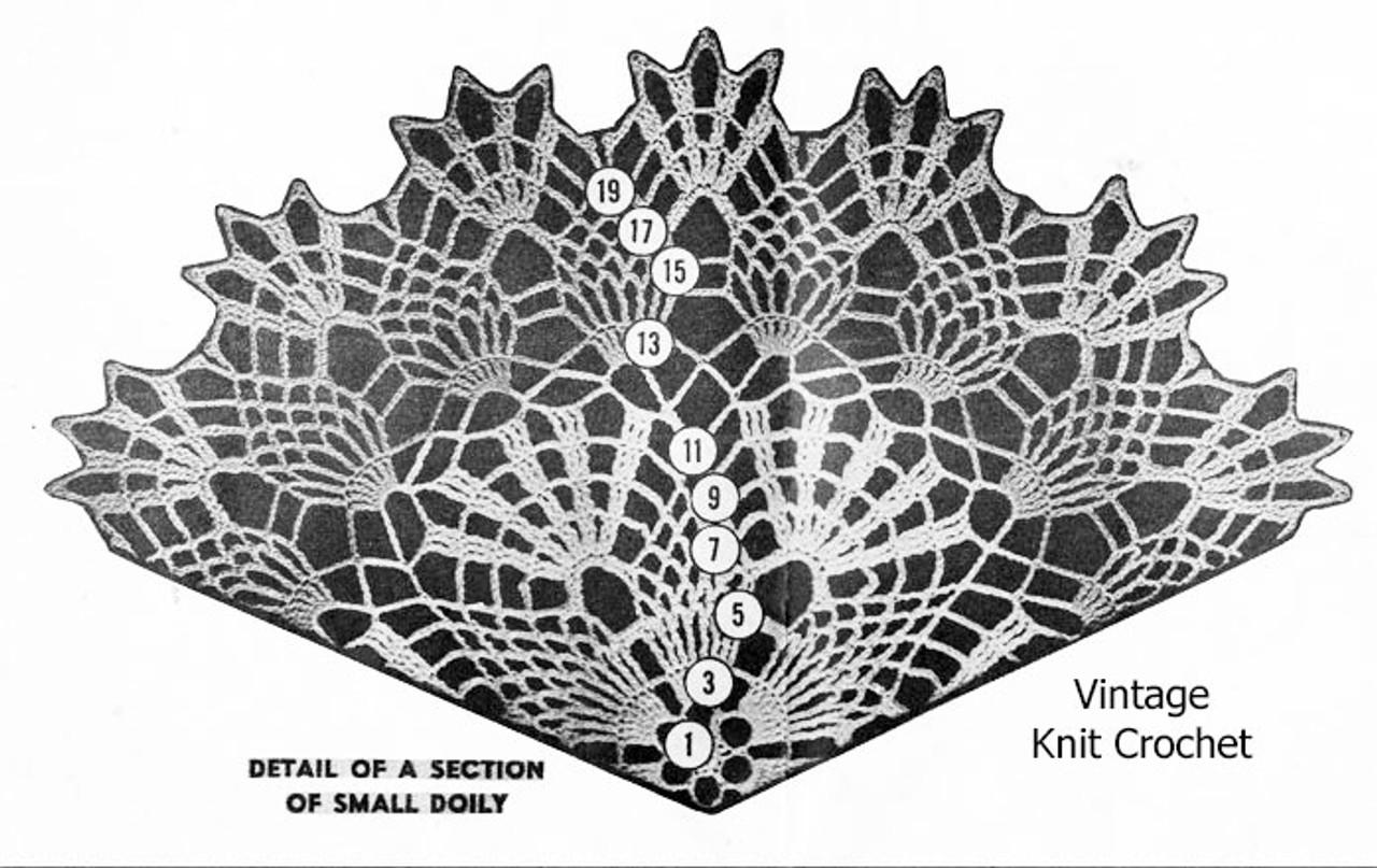 large Pineapple Doily Crochet Pattern Illustration Design 3136