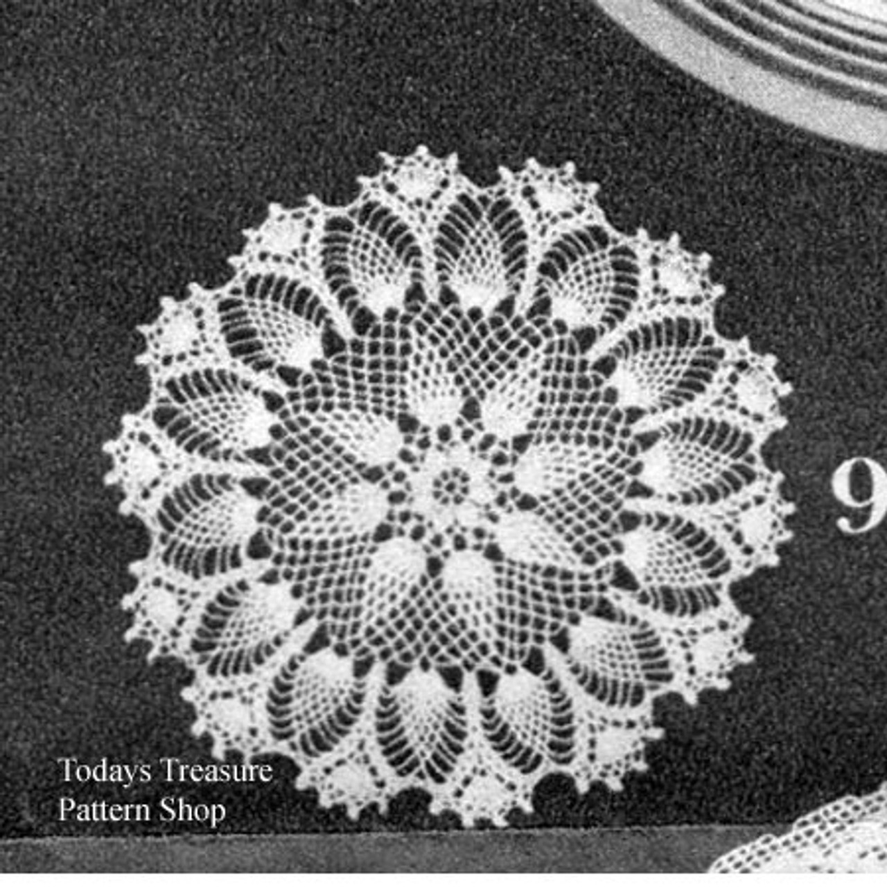 Vintage White Crocheted Doily Pattern from Womans Day Magazine