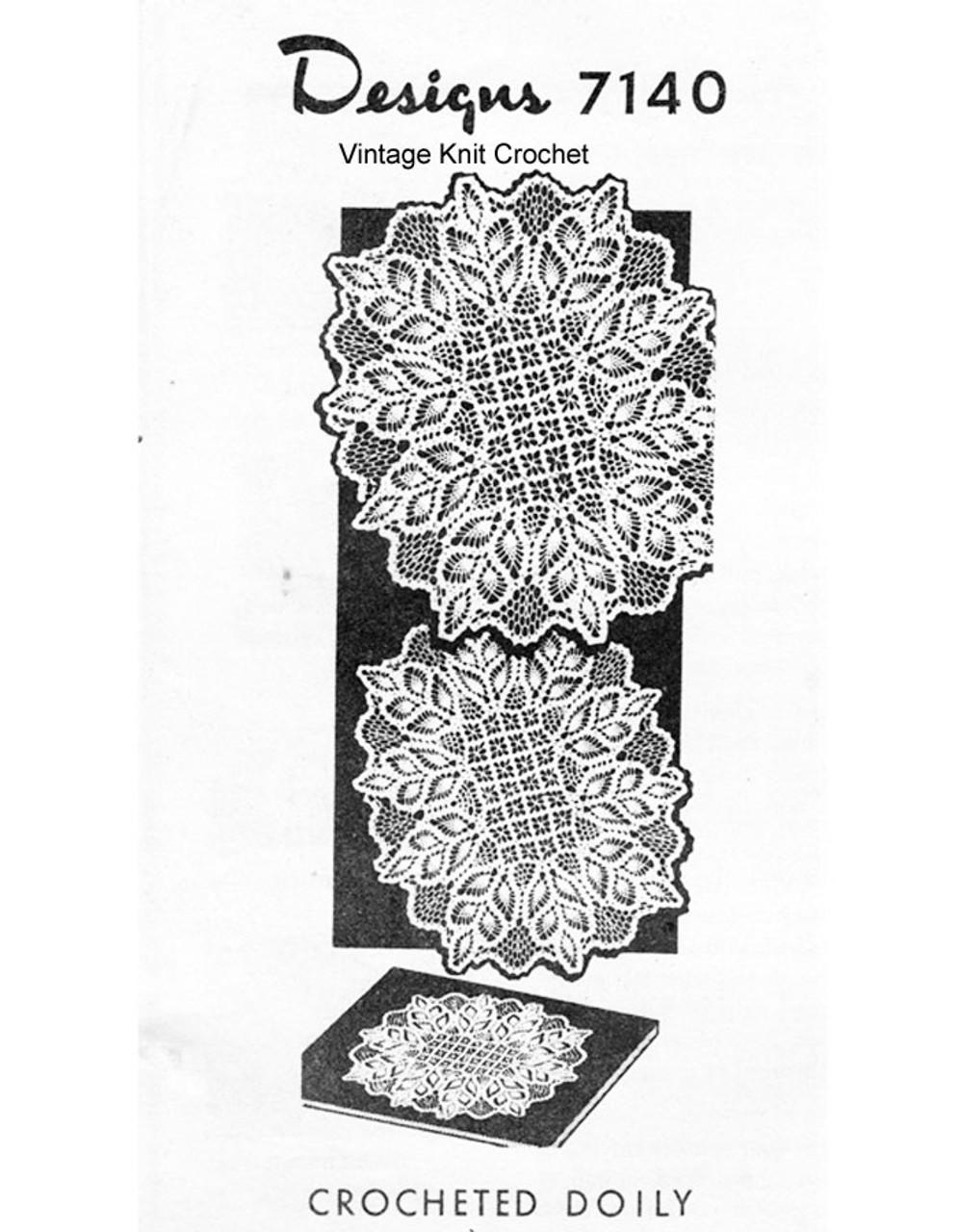 Oblong Pineapple Doily Crochet Pattern Design 7140