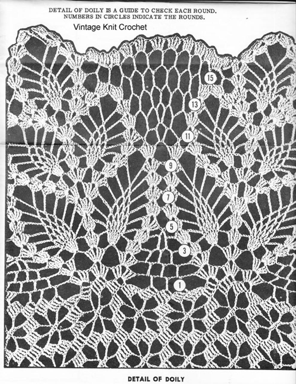 Pineapple Doily Pattern Stitch Illustration, Alice Brooks 7140