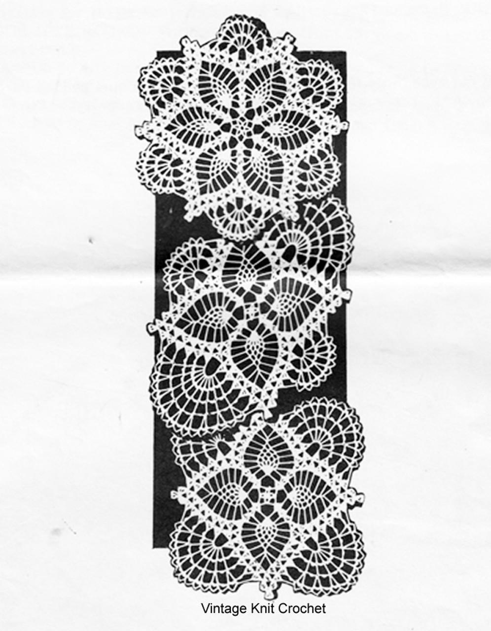Crochet Square Pineapple Doily Pattern, Design 742
