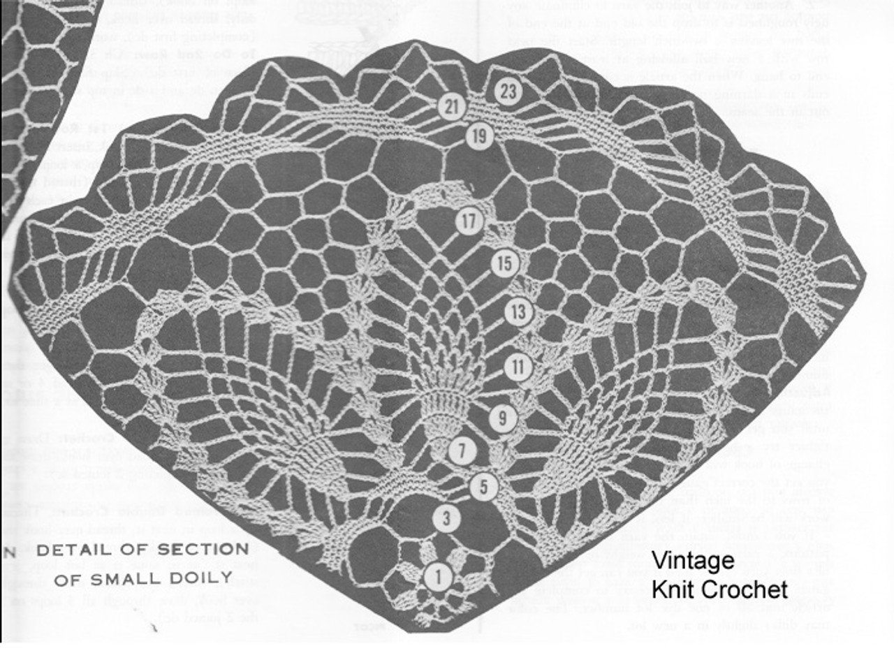 Mail order 754, Small Pinwheel Doily Illustration