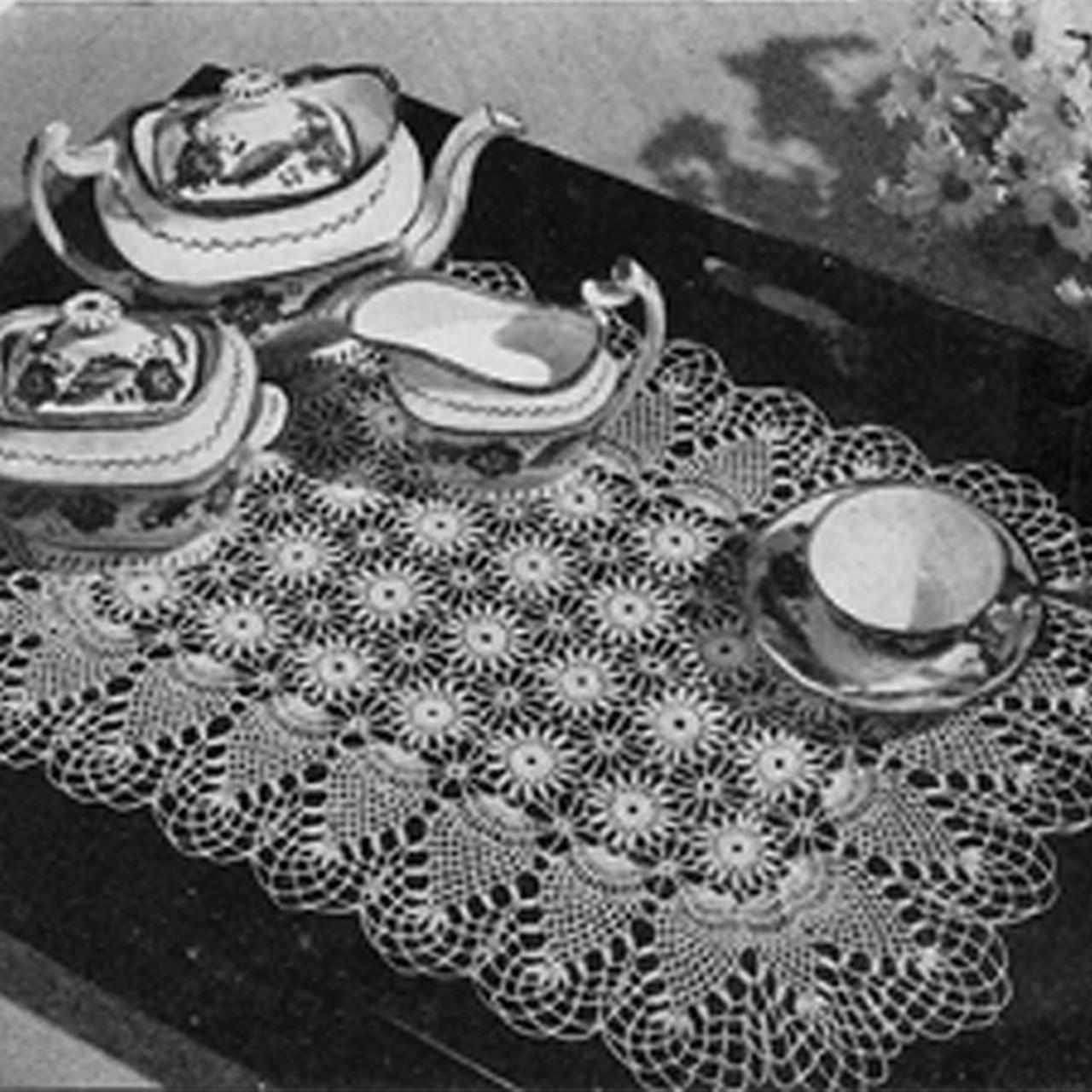 Pineapple Crocheted Luncheon Set Pattern