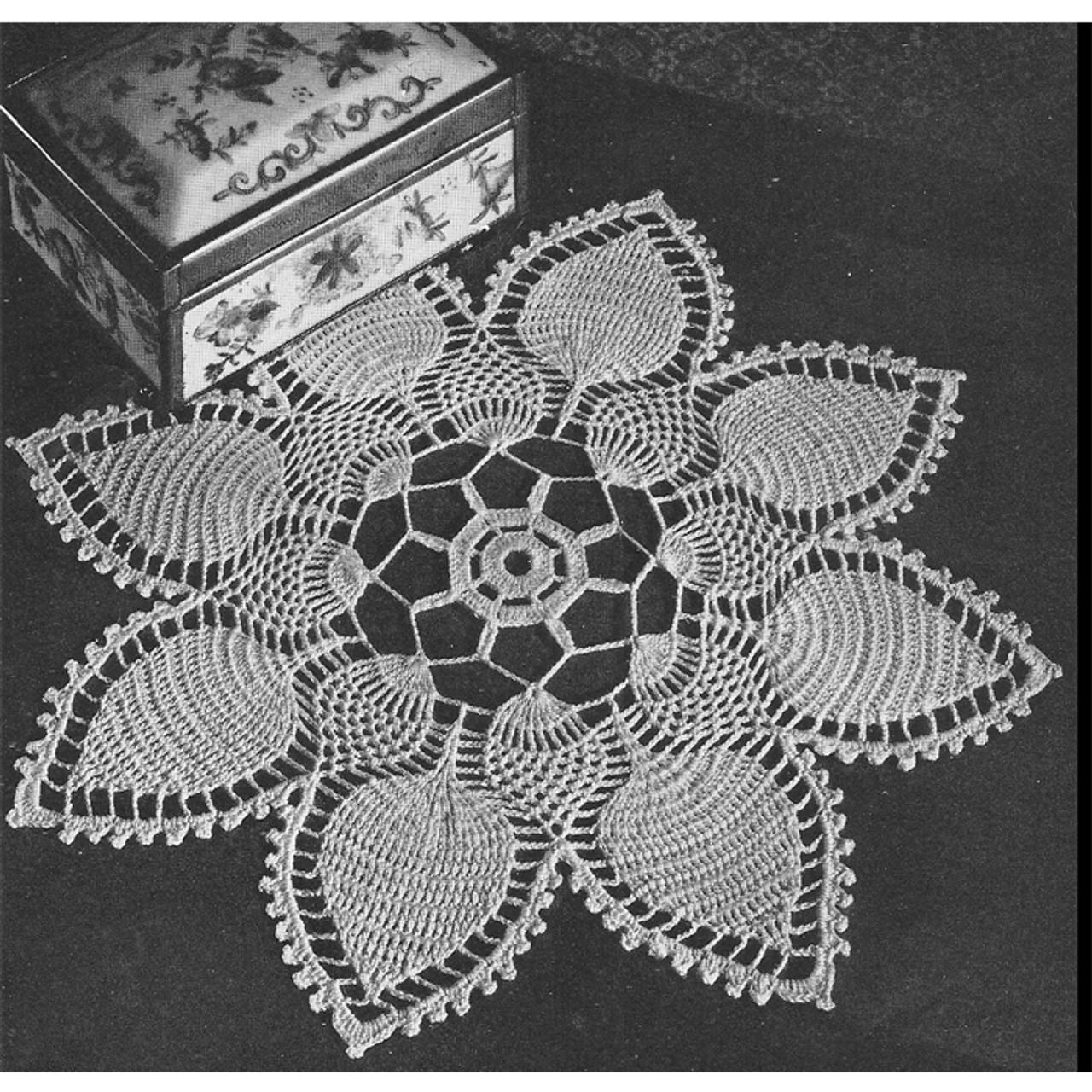 Pineapple Petals, Vintage Crochet Doily Pattern