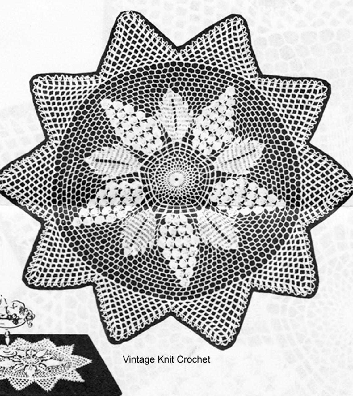 Vintage Grape Doily Crochet Pattern, Kate Marchbank 2212