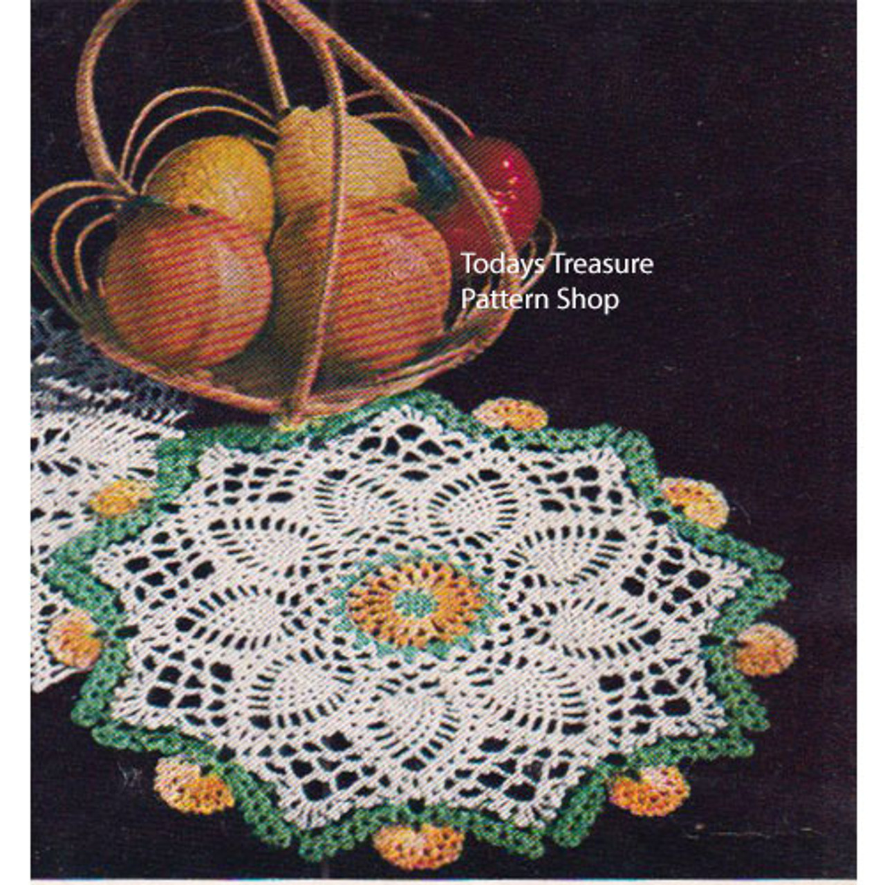 Colorful Marigold Crocheted Doily Pattern