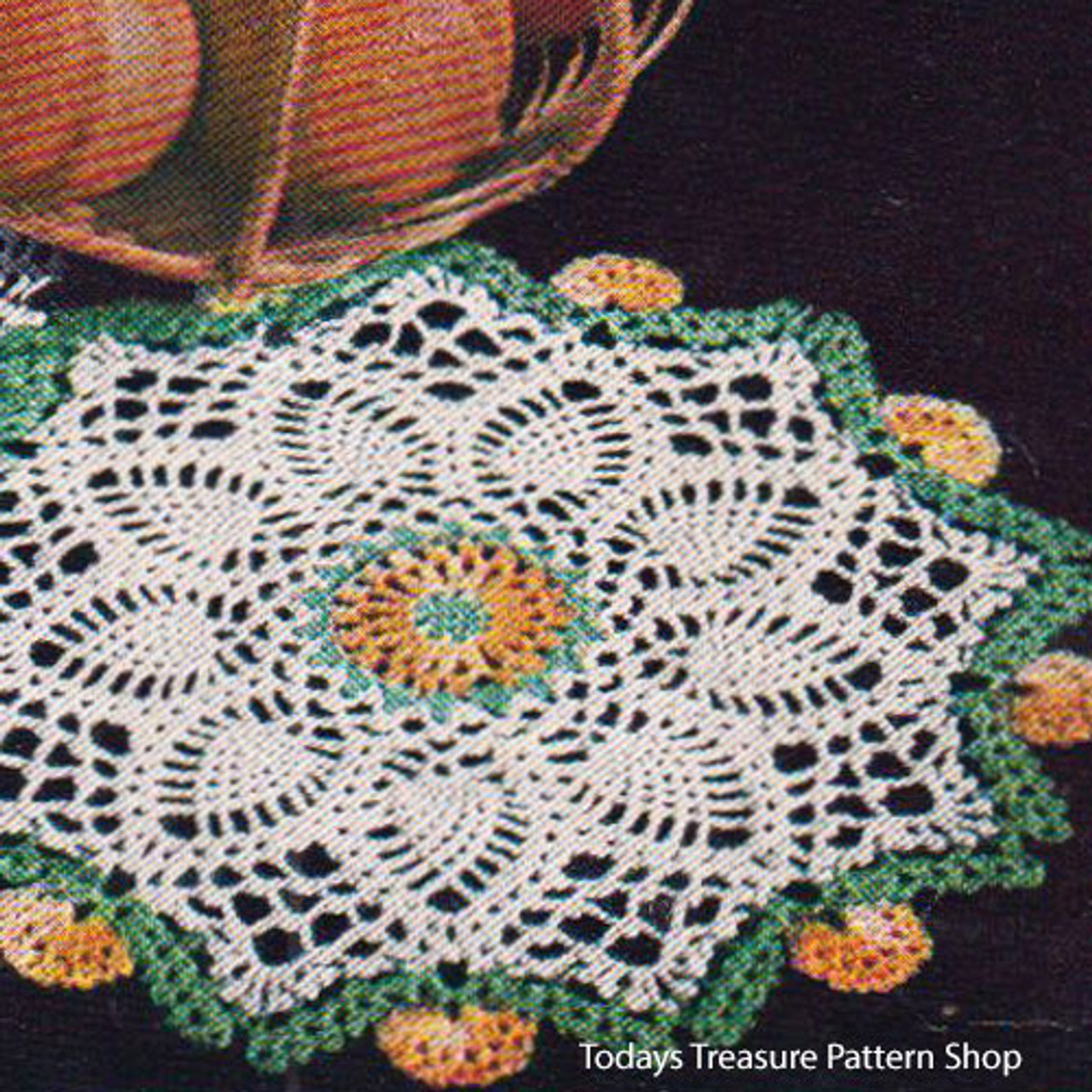 Vintage Marigold Doily Crochet Pattern from American Thread