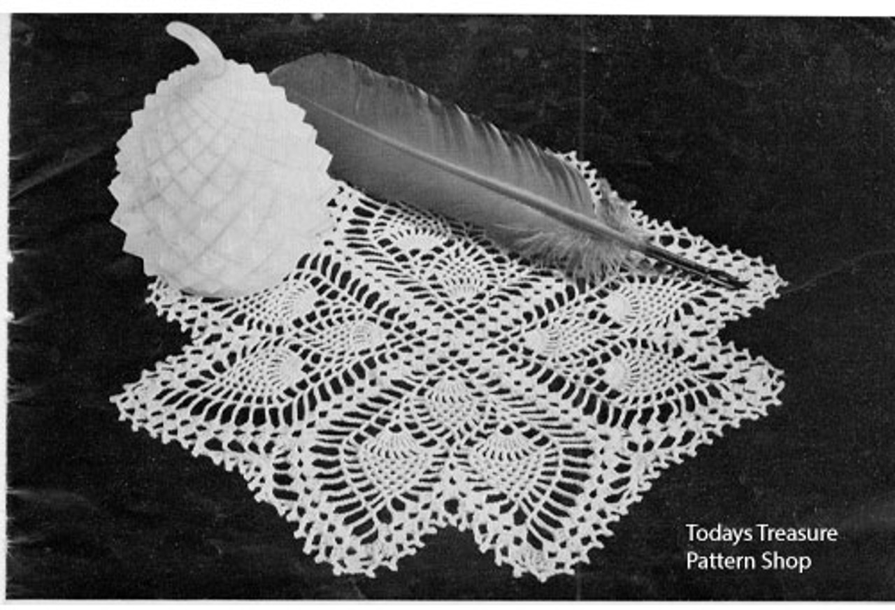 Crocheted Quill Vintage Doily Pattern