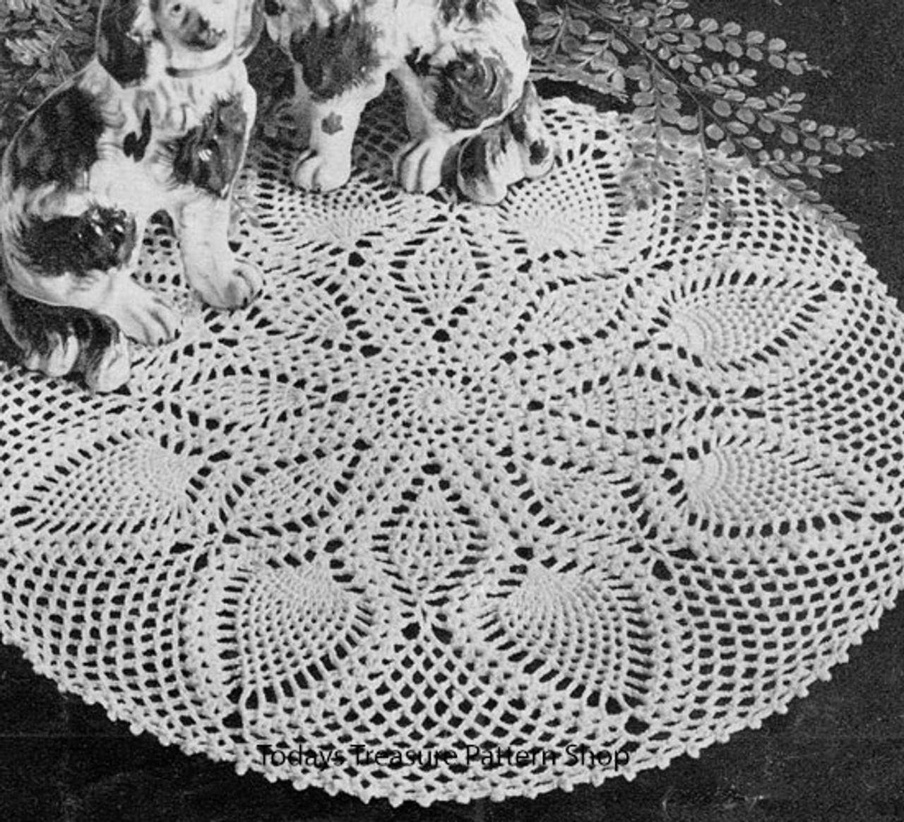Large Chelsea Doily Crochet Pattern, Vintage 1950s