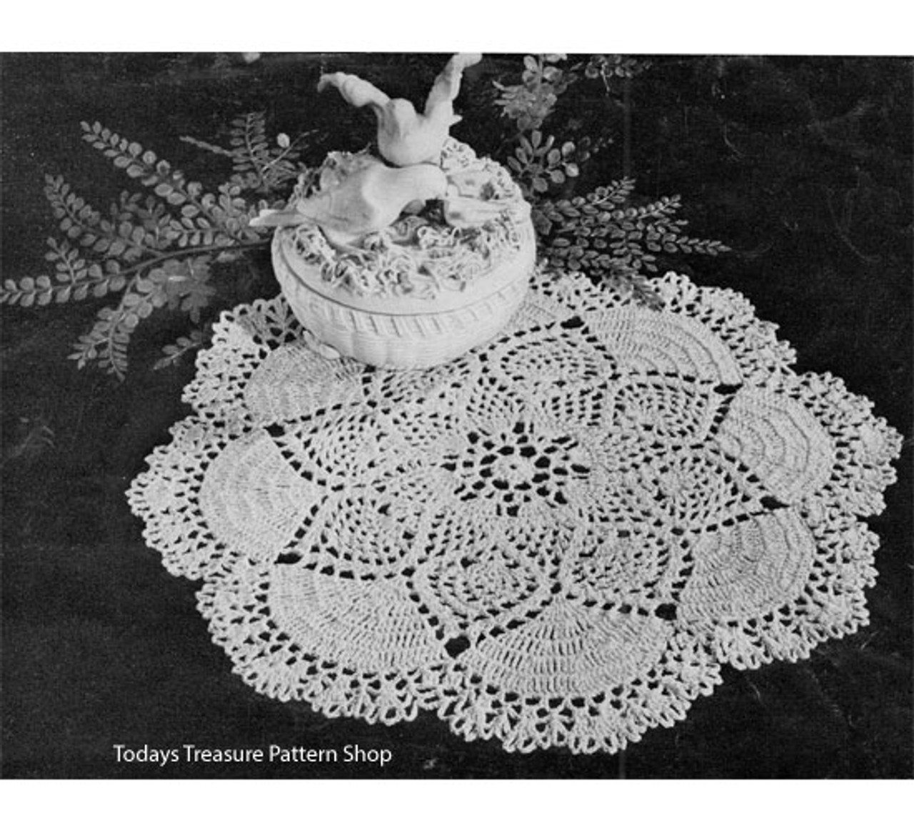 Vintage Dove Doily Crochet Pattern from American Thread.