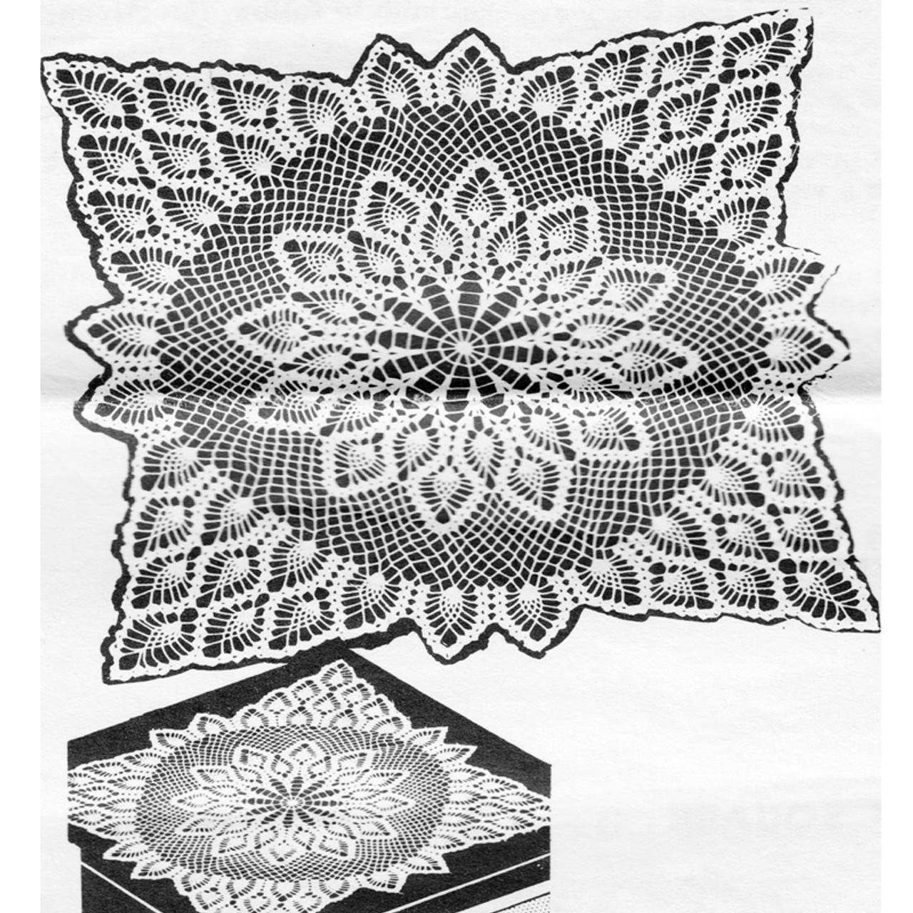 Pineapple TV Cover Crochet Pattern, Vintage 1960s