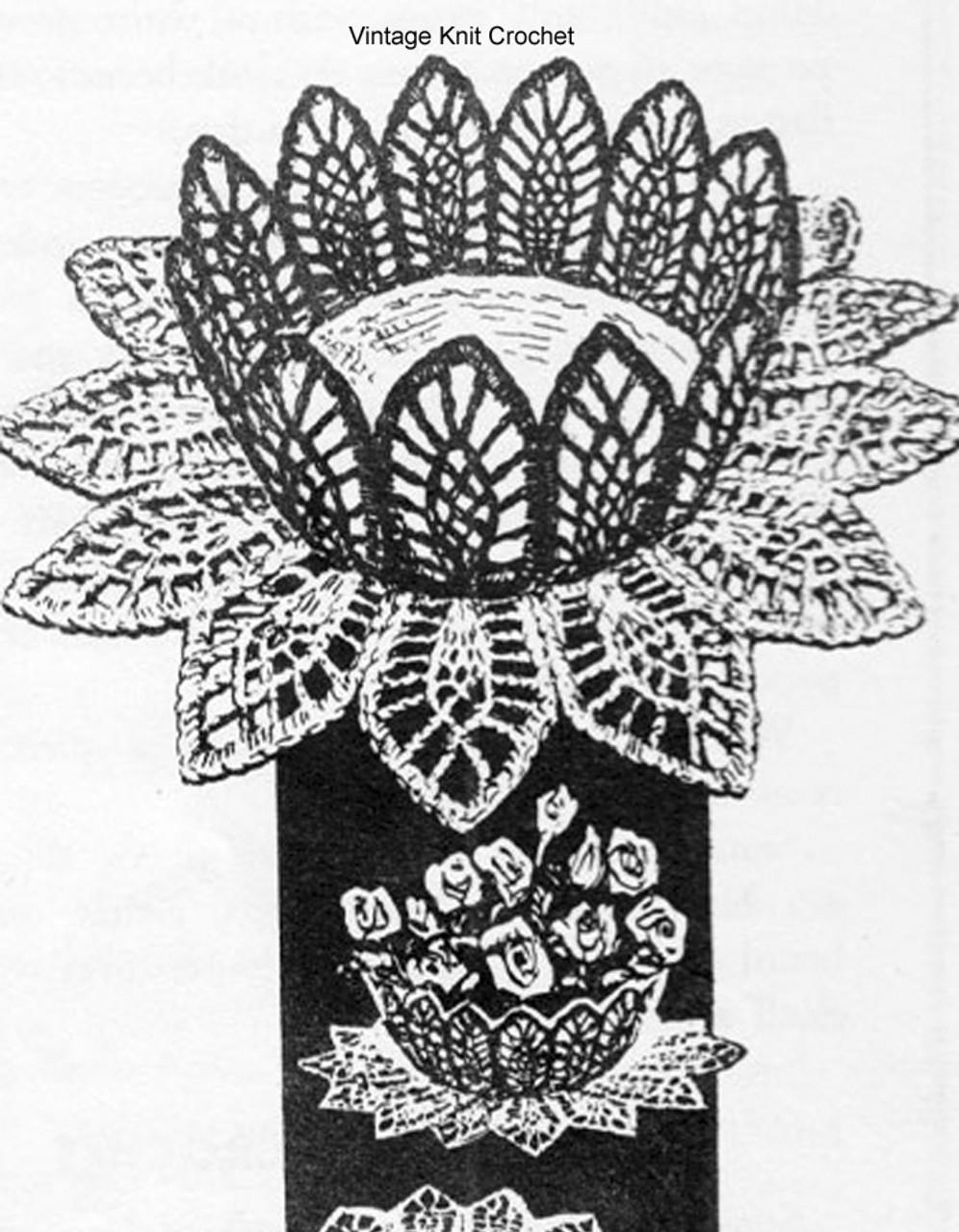 Doily Bowl Crochet Pattern, Mail Order 594