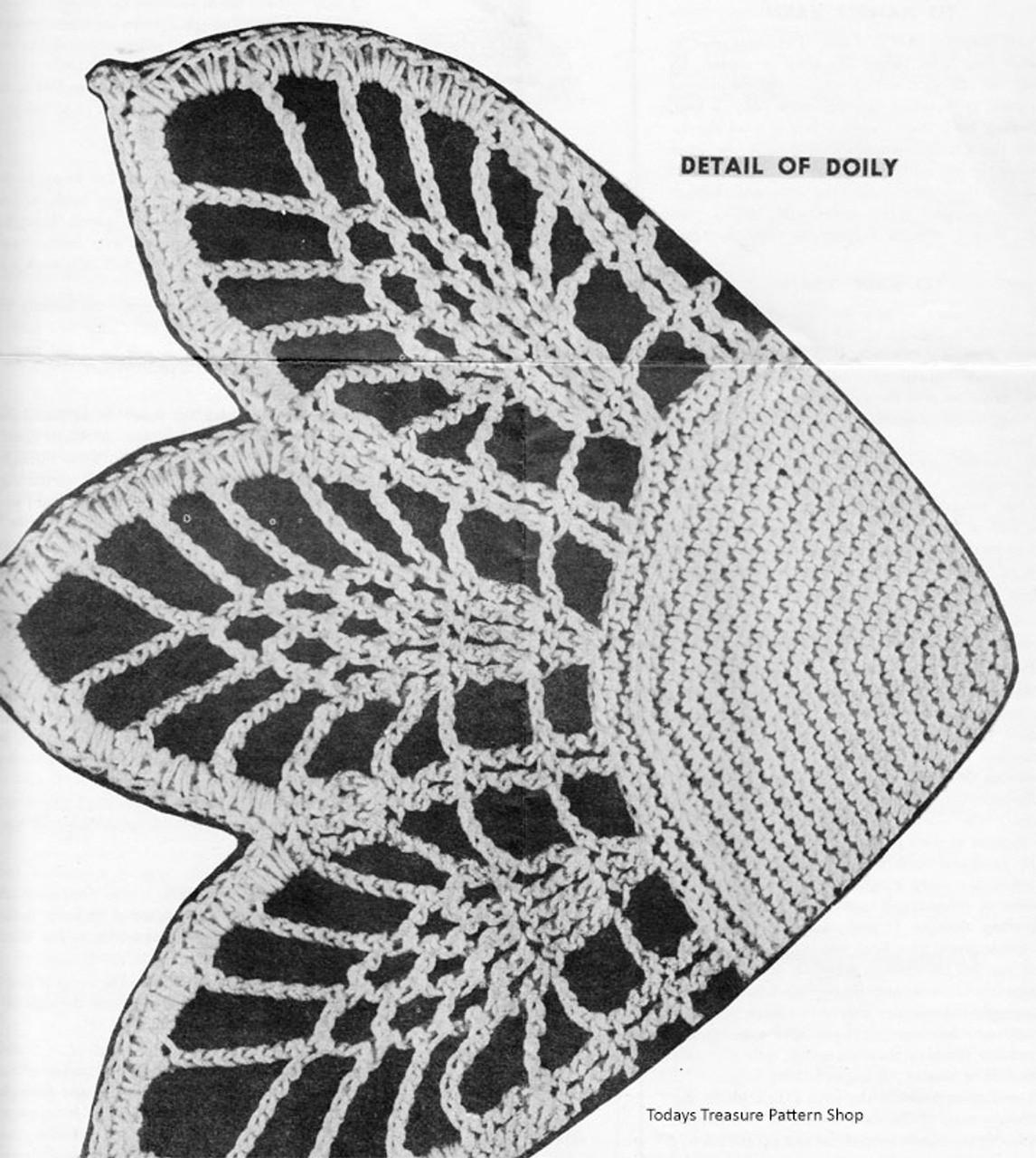 Doily Basket Crochet Pattern Stitch Illustration