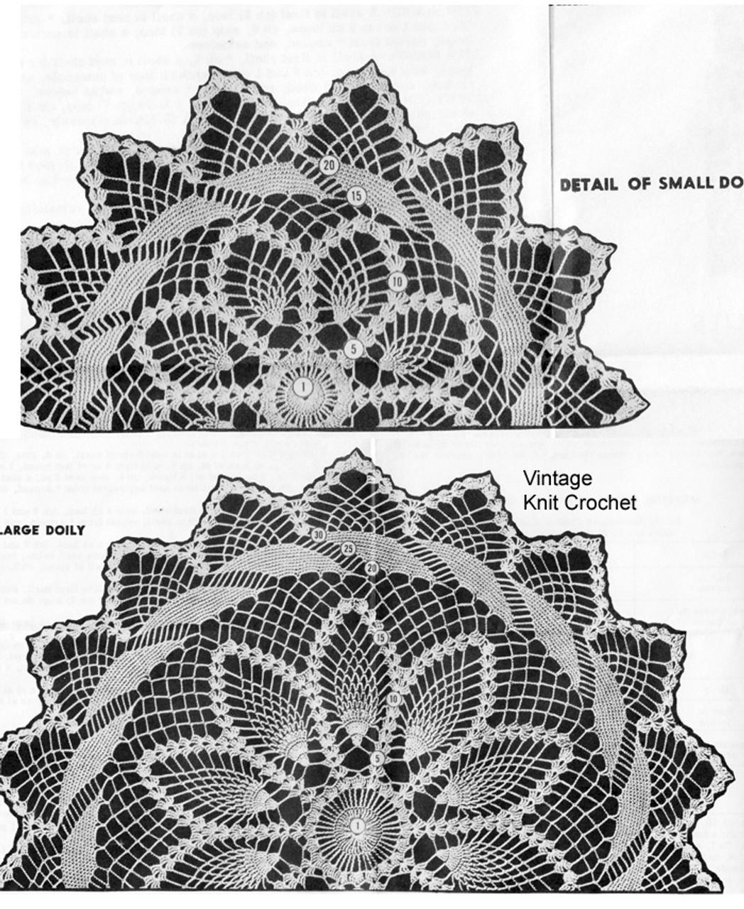 Crochet Pineapple Bordered Doily Detail, Laura Wheeler 781