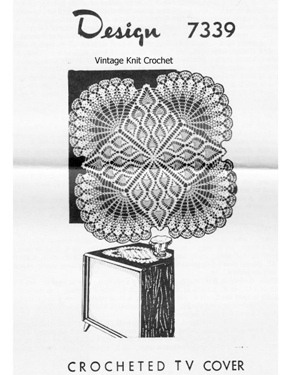 Pineapple Centerpiece Doily Crochet Pattern Design 7339