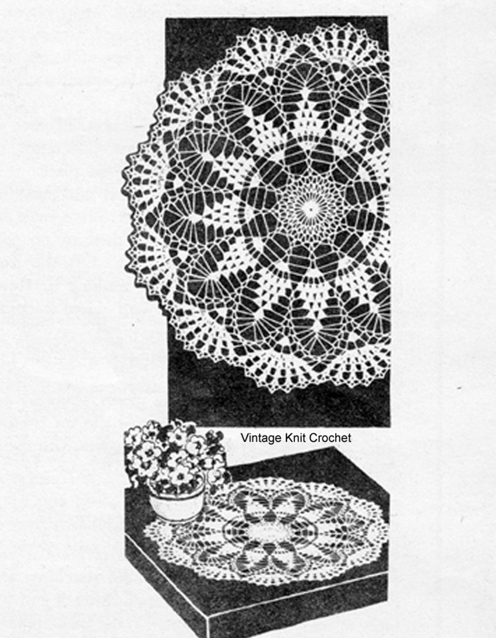 Mail Order 641, Large Crochet Pineapple Doily Pattern