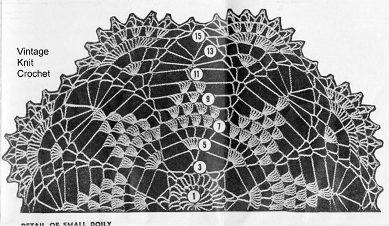 Mail Order 641 small doily crochet pattern stitch illustration