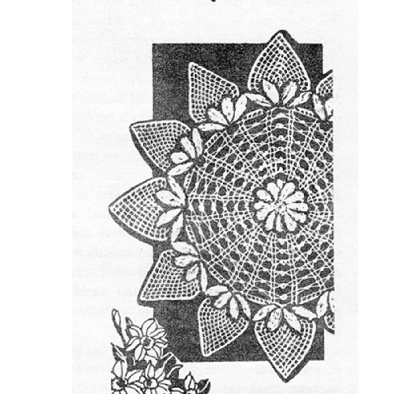 Design 7335, Strawberry Crochet Doily Pattern