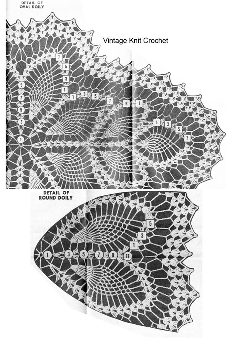 Pineapple Doilies Pattern Illustration for Design 7274