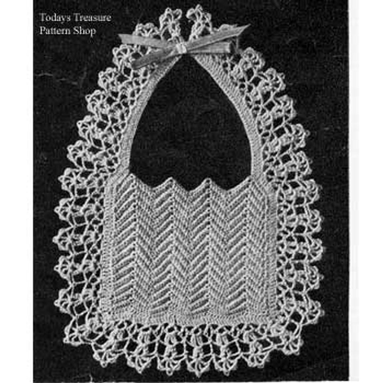 Frilly Lace Baby Bib Crochet Pattern